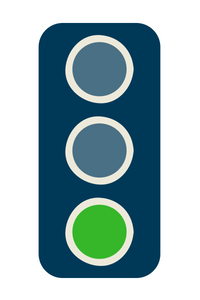 green traffic light vertical