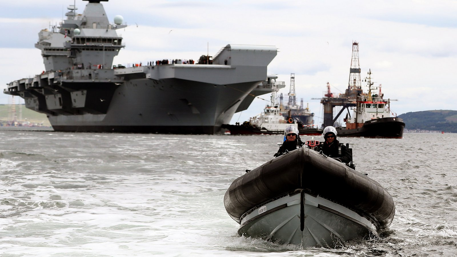 Theresa May Hails Hms Queen Elizabeth As A Symbol Of A Global