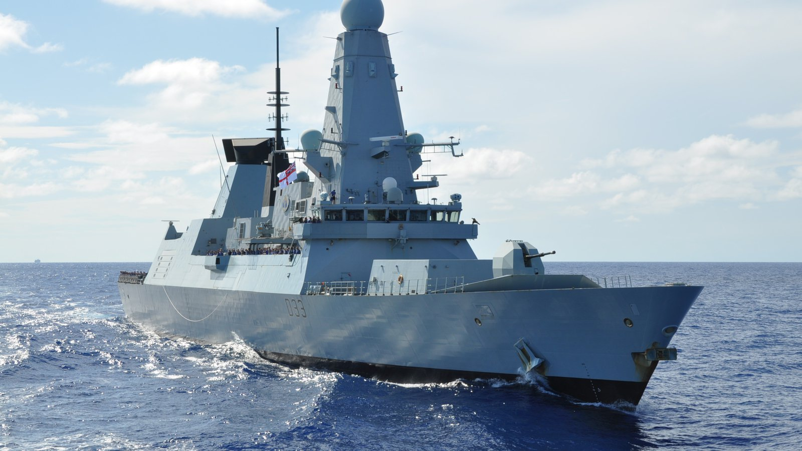 Royal Navy destroyer HMS dauntless
