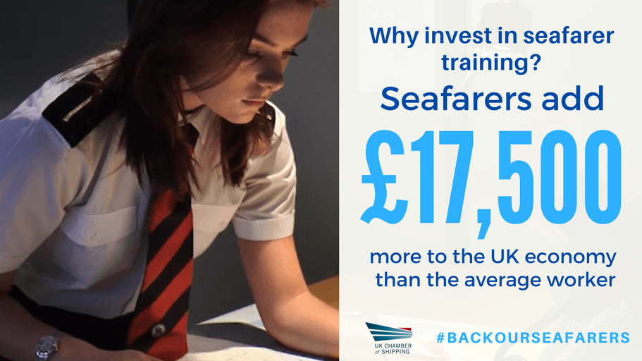 The campaign highlights the economic contribution made by UK seafarers.